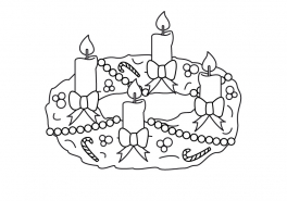 Adventskranz Bilder Kostenlos ausmalbilder weihnachten adventskranz die beste idee zum ausmalen
